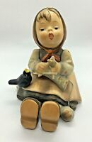 Vintage Goebel Hummel Figurine HAPPY PASTIME Girl Knitting W/bird #69 TMK3