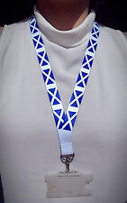 Scotland Lanyard with metal clip - ideal for ID badges - 80cm x 2cm - Scottish