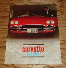 Original 1962 Chevrolet Corvette Sales Brochure 62 Chevy