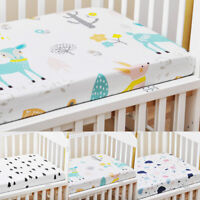 130x70cm Fitted Sheet Cotton Baby Crib Bed Cover Newborns With Elastic Band