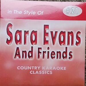SARA EVANS AND FRIENDS CDG KARAOKE COUNTRY CLASSICS CKC #21 CD+G NEW MUSIC