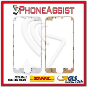 CORNICE FRAME iPhone 6 TELAIO DISPLAY LCD con BIADESIVO 3M Bianco White