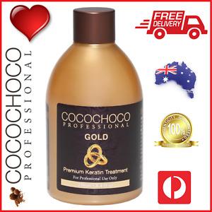 ❤❤ COCOCHOCO Pro GOLD Brazil Keratin Straight Silky Hair Premium Treatment 250ml