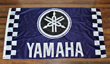 Yamaha Factory Racing Team Flag Garage Sign Banner Motorcycle Moto GP Checkered