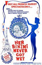 Her Bikini Never Got Wet - 1962 - Movie Poster