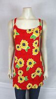 Bali Girl Red Orange Brown Cover Beach Tunic Top Dress Women's Size Medium large