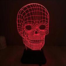 Skull Design 3D Lamp