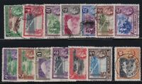 Dominica Sc #97-110 (1938/47) King George VI Pictorial Set VF Used