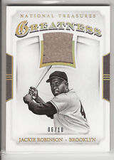 2017 NATIONAL TREASURES GREATNESS GAME USED JERSEY JACKIE ROBINSON #G-JR 06/10!