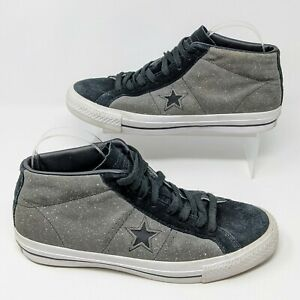 Converse Cons One Star Pro Speckled Suede Skateboarding Shoe Gray/Black Sz 8.5
