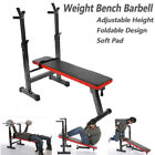 Adjustable Foldable Weight Bench Gym Workout Home Fitness Exercise Lifting Press
