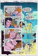 NEW TITANS COMICS #98 OG COLOR PRODUCTION ART SIGNED ADRIENNE ROY COA PG 13