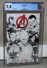 Marvel Avengers #1 Steve McNiven Sketch Cover Variant - CGC 9.8