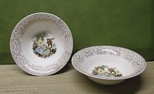 Vintage 1940's Two Limoges American Triumph D OR Serving Bowls French Romantic l