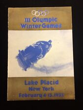 1932 Olympic Winter Games Media Guide