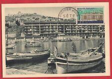 PREMIER JOUR N° : 1155 SETE 29.3.1958 très bon état COTE : 4 € BATEAUX DE PECHE