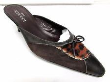 Sesto Meucci women's size 8.5 M leather brown med heel classic pumps shoes slide