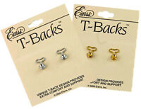 2-Pairs of T-BACK Earlobe Stabilizer Replacement Earring Backs, Anti-Allergenic