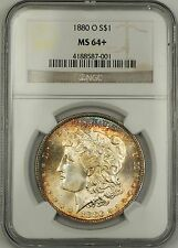 1880-O Morgan Silver Dollar $1 Coin NGC MS-64+ Gorgeous Gem!