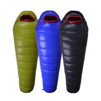 Mummy Sleeping Bag White Duck Down -15℃ Warm Camping Hiking 1000g
