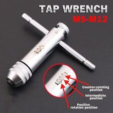 Adjustable T-Handle Ratchet Wrench Screw Tap M5-M12 Thread Plug Tap Hand Tool