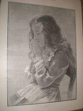Alicia en el país de las maravillas por P H Miller 1901 antiguos impresión rf Ay