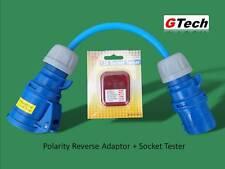 Hook-Up Polarity Reverse Adaptor + Socket Tester CARAVAN/CAMPING/MOTOR HOME