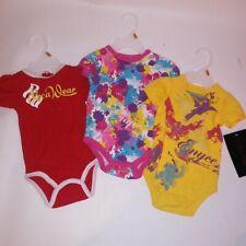 Set of 3 Rocawear & Enyce Bodysuits Kids Infant Toddler 0-3 0-6 Months Girls