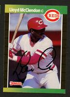 Lloyd McClendon #595 signed autograph auto 1989 Donruss Baseball Trading Card