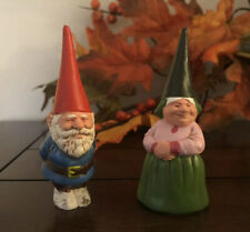 Vintage 1980 Unieboek Gnomes Man & Woman Made In Hong Kong Rubber