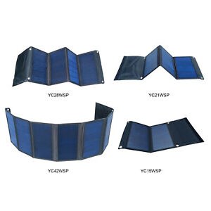 15-42W Solar Panel Outdoor Solar Charger Foldable Camping for Smartphones