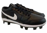 Nike Air Jordan 1 Retro MCS Low Black Baseball Cleats CJ8524-001 Men's Size 9.5