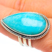 Large Peruvian Amazonite 925 Sterling Silver Ring Size 10 Ana Co Jewelry R61422F