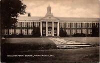 William Penn School New Castle Delaware 1940s Postcard