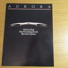 Revista de prueba de carretera de prensa Oldsmobile Aurora revisa folleto de ventas EE. UU. 1993