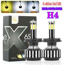 6 Side H4 LED Headlight Bulbs Kit 9003 Car Lighting CREE Hi/Low Beam 360 Degree