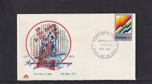 Australia 1971 Royal Sydney Stock Exchange Centenary FDC (red & blue design)