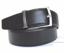 B-350954 New Salvatore Ferragamo Black Leather Square Buckle Size 42 Fits 40