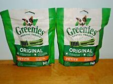 New listing Greenies Original Dental Dog Treats 10 ct each (20) Petite for Dogs 15-25 lbs.