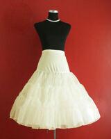 "Lady 50's IVORY Underskirt Rock n' Roll Petticoat / TUTU 26"" FREE P&P"