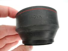 Hoya 49mm Screw In Collapsible Rubber Camera Lens Hood