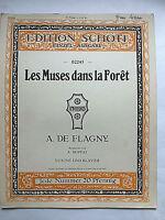 "A. De Flagny :"" Les Muses dans la Foret"" - alte Noten komplett Violine und Piano"