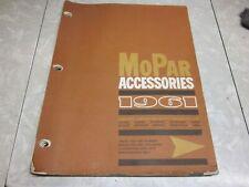 New Listingoriginal 1961 mopar accessories catalog chrysler dodge plymouth imperial truck
