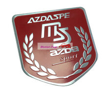 Red MS SPEED Sport Metal Car Trunk Fender Emblem Badge Decals Sticker For MX-5
