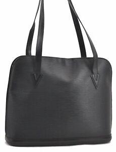 Authentic Louis Vuitton Epi Lussac Shoulder Bag Black M52282 LV B1053