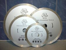 "150mm (6"" inch) THK Diamond segment continuous rim saw blade cutting disc wheel"