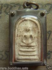 Phra Somdej,L P Nak,Wat Rakhang yr 2495 Thai Buddha,silver  casing beautiful