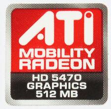 ATI MOBILITY RADEON HD 5470 512MB  STICKER LOGO AUFKLEBER 16x16mm (413)