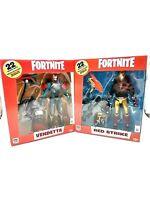 "Fortnite lot of 2 Red Strike Vendetta McFarlane Toys Epic Games 7"" Action Figure"