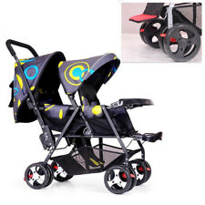 Twin Baby Stroller Foldable Double Pushchair Lightweight Travel System 33LB Seat